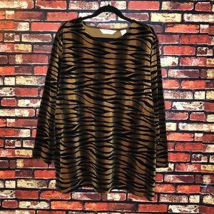 NWT 1X Vintage Tiger Stripped Bechamel Tunic